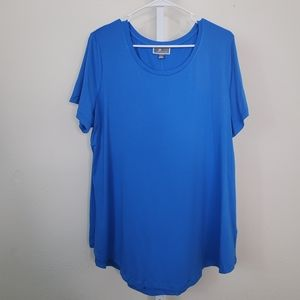 JM Collection Tops - JM COLLECTION Large Blue Top